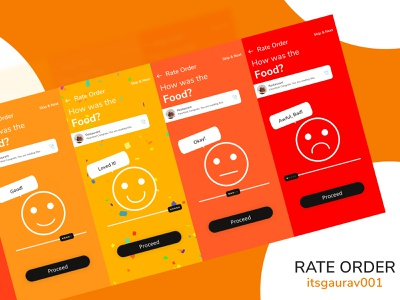Rate Order Shot. Feedback appreciated. illustrator motion graphics appdesign rating smiley figma animation ui