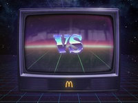 Mc Donalds tv screen