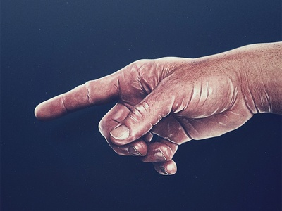 Point. hyperrealistic painting photoshop highlights finger point hand thumb experiment