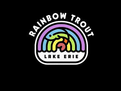Rainbow Trout emblem logo design trout patch fishing