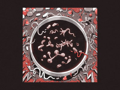 petri art drawing surreal parasit monsters microbes illustration creature