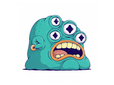 blup photoshop monsters design character surreal creature illustration drawing art