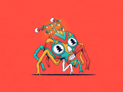 new year spider christmas newyear photoshop monsters character surreal creature illustration drawing art