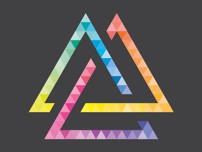 Colorful Triangle colourful triangle t-shirt