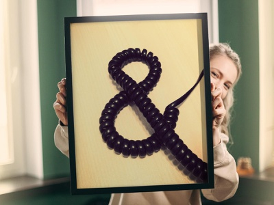 Ampersand Typography Poster graphic design photography poster design