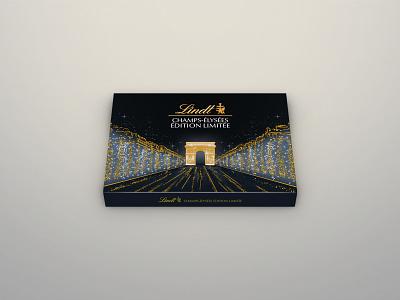 Lindt Champs-Élysées Limited Edition Chocolate Package Design package design print design graphic design