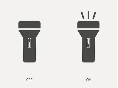 Flashlight Icon ui icon icon design graphic design