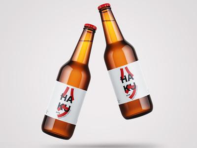 Haku (ハク) Apa Beer Label label design graphic design