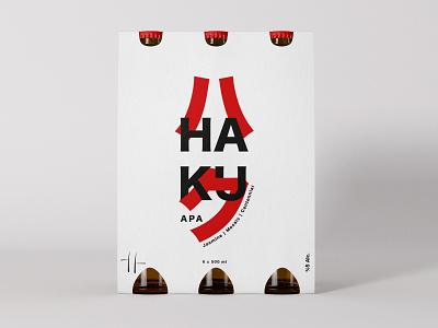 Haku (ハク) Apa Beer Package package design graphic design