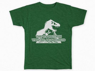 The Evolution T-Shirts graphic design jurassic world jurassic park t-shirts