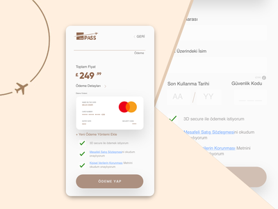 IGA Pass: Payment Flow Design aviation 2019trends services premium systems payment flow app mobile airport istanbul