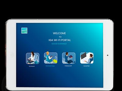 İstanbul Airport Wi-fi Portal Soft Login Screen i̇ga industries travel aviation design portal screen login soft colors wi-fi airport i̇stanbul