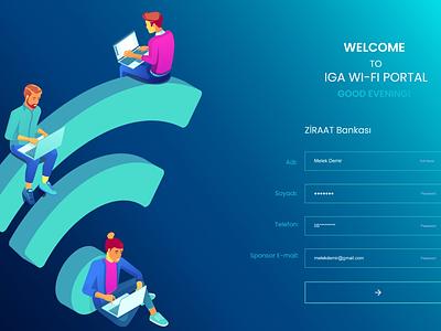 Wi-fi portal wifi web design