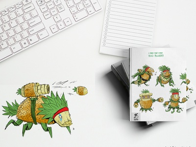 Tosbaa Notebook Design character art funny green manipulation tosbaa notebook design