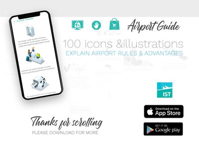 Airport Guide UI Design Ideas