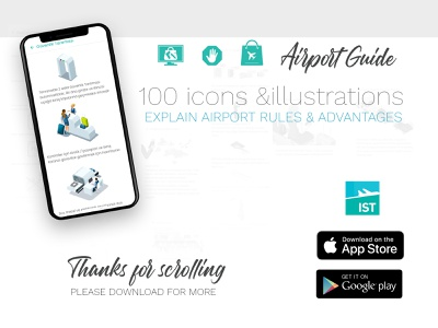 Airport Guide UI Design Ideas illustration uidesigns rules guidebook corporate airport shuttle advice 2019trends app travel design aviation airport