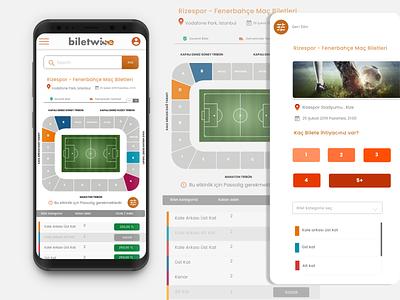 E-commerce Webview UI logo advice branding vector ui 2019trends design sports design football ticket app symbol ui design web design webview