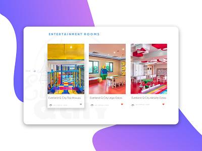 Q City - Children Hotel UI design landing ux ui hotel entertainment children