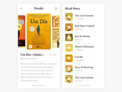 Books App UI vector branding study read play white list reading app design uiux ui books