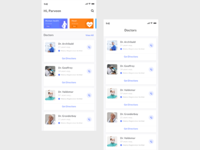 Appointments App UI