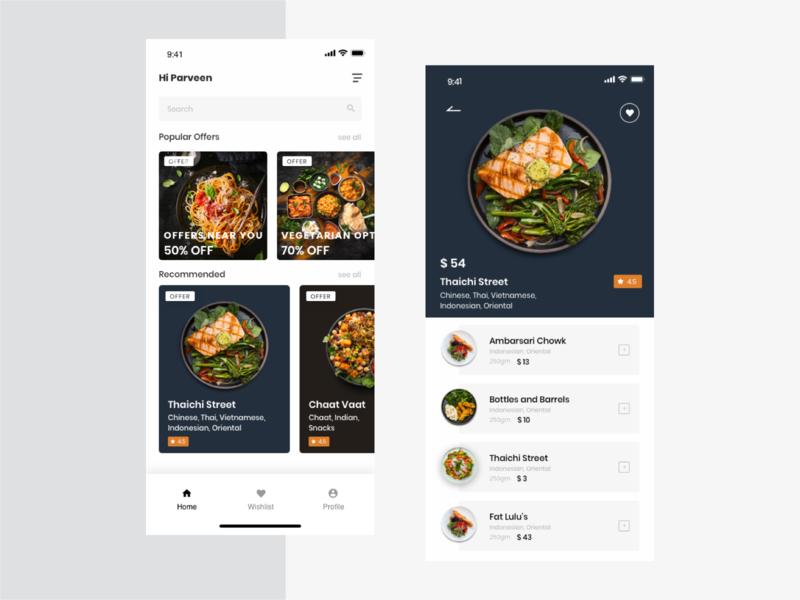 Food App icon app card account design application colors search color desing ux ui