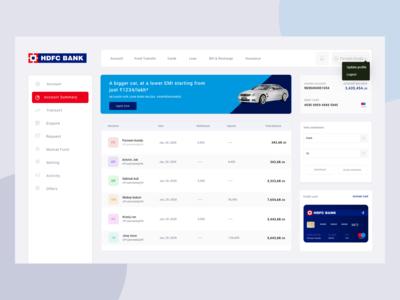 HDFC Bank User Screen