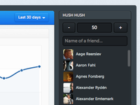Friends list and graph
