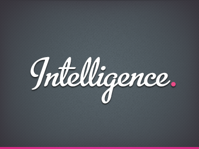 Intelligence - understanding ourselves
