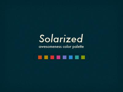 Solarized color palette color scheme
