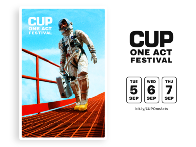 One Act Festival Poster astronaut dates poster theatre