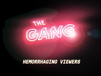 The Gamg 80s neon pink flare film grain tv