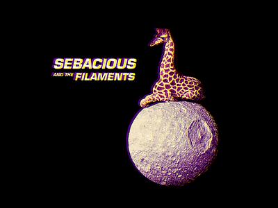 Album Artwork surreal space giraffe moon chromatic abberation