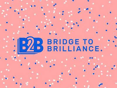 Bridge to Brilliance Logo confetti nonprofit education bridge to brilliance
