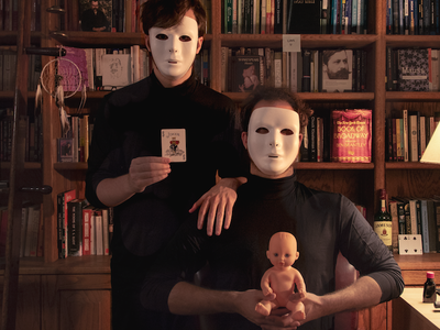 TMP photography card books baby eyes wide shut