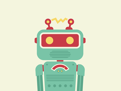 Mr Roboto flat illustration robot