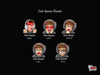 Cute Gamer Twitch Emotes