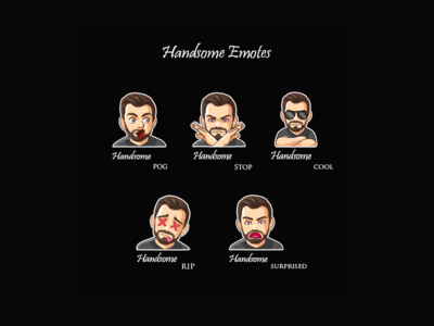 Handsome Twitch Emotes