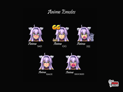 Anime Twitch Emotes