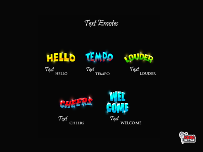 Text Twitch Emotes