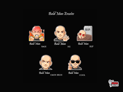 Bald Man Twitch Emotes