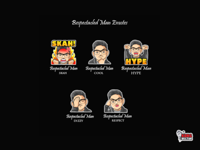 Baspectaded Man Twitch Emotes