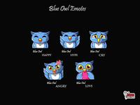 Blue Owl Twitch Emotes