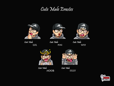 Cute Male Twitch Emotes cutemaleemotes twitchforstreamers graphicforstream designer creativity twitchemotes twitchemote streamers sticker emoteart emotes emote emoji design silly noob wtf pog lul