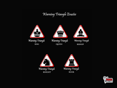 Warning Triangle Twitch Emotes rook khignt queen bishop king happy look illustration emoticon fun funny daily fun designs streamers graphicforstream emoji customemote emoteart design emotes emote twitch twitchemote twitchemotes