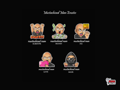 Mustachioed Man Twitch Emote money hypew wow haappy look fun funny creative idea daily fun cartoon graphicforstream streamers eemoji eemoji customemote emoteart design emotes emote twitch twitchemote twitchemotes