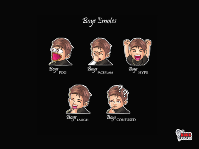 Boys Twitch Emotes faceplam pog happy look streamers cute logo creative idea designer streamers graphicforstream emoji customemote emoteart design emotes emote twitch twitchemote twitchemotes