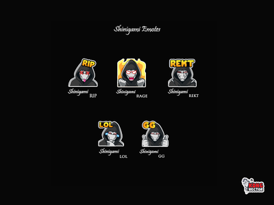 Shinigami Twitch Emotes gg lol rekt rage rip emoteart happy look creative idea daily fun cartoon graphicforstream streamers emoji customemote design emotes emote twitch twitchemotes twitchemote