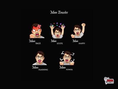 Man Twitch Emotes power flashing happy hype rage cute creative idea daily fun cartoon emoteart graphicforstream streamers emoji customemote design emotes emote twitch twitchemote twitchemotes