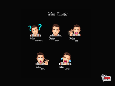 Man Twitch Emotes laugh lol hi sad thinking character emoteart creative idea daily fun cartoon graphicforstream streamers emoji customemote design emotes emote twitch twitchemote twitchemotes