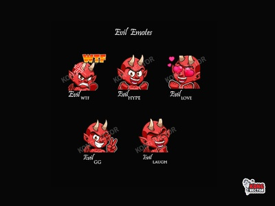 Evil Twitch Emotes laughter gg love wtf creative idea illustration daily fun hype emoteart emotes cartoon graphicforstream streamers emoji customemote design emote twitch twitchemote twitchemotes